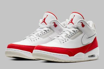 "Air Jordan 3 Tinker ""University Red"" To Come With Interchangeable Logos"
