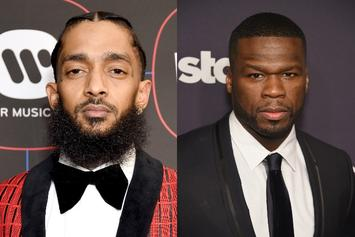 "50 Cent Opens Up About Mourning Nipsey Hussle: ""It's Harder For Me To Express It"""