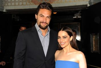 """Jason Momoa Reflects On """"Almost Losing"""" Emilia Clarke After Aneurysms"""