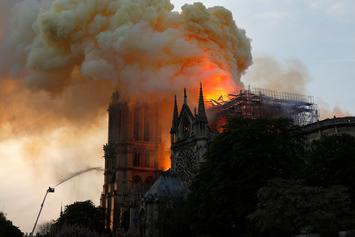 Notre-Dame Cathedral In Paris Engulfed By Massive Fire