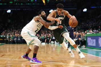 """Kyrie Irving Bitter Over Giannis Antetokounmpo's 22 Free Throws: """"It's Getting Ridiculous"""""""