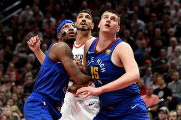 "Enes Kanter Plays Through ""Separated Shoulder"" In  Blazers' Quadruple-OT Win"