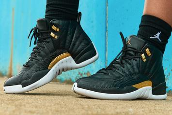 "Air Jordan 12 ""Midnight Black"" Debuts This Week: On-Foot Images"