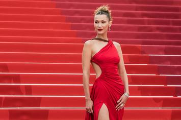 Bella Hadid Goes Topless In Her Thong Underwear For Bathroom Video