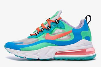 """Nike Air Max 270 React """"Blue Lagoon"""" Drops In July, Detailed Images"""