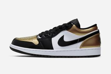 """Air Jordan 1 Low """"Gold Toe"""" Officially Revealed: First Look"""