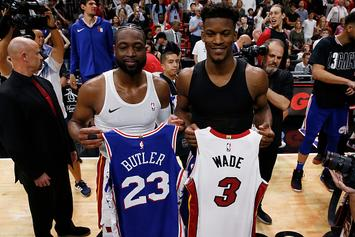 "Dwyane Wade Jokes His Jersey Swap Collection Is ""Looking Kinda Bootleg"""
