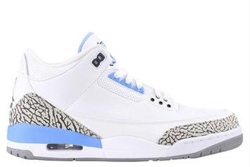 """Air Jordan 3 """"UNC"""" Set To Release For March Madness"""