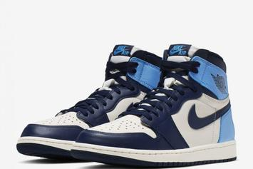 "Air Jordan 1 High OG ""Obsidian/UNC"" Stock Details Revealed"