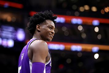 De'Aaron Fox Reacts To His Abysmal Dunk Rating In NBA 2K20