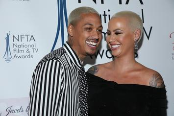 "Amber Rose Shows Off 9-Month Baby Belly: ""I'm Pretty Much On Bed Rest"""