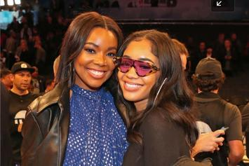 """Gabrielle Union & Her Cousin Saweetie Sport Matching """"Bring It On"""" Costumes"""