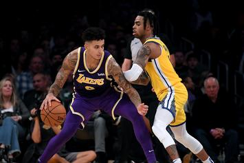 D'Angelo Russell Lit Up By LeBron James & Kyle Kuzma For Cheeky IG Post