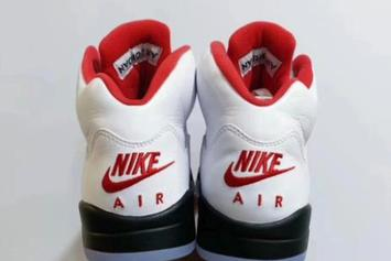 "Air Jordan 5 ""Fire Red"" Set To Return Next Year: First Look"