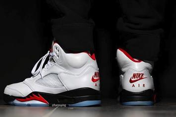 "Air Jordan 5 ""Fire Red"" Coming In Spring Of 2020: On-Foot Images"