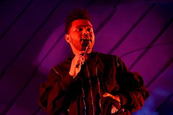 """The Weeknd Gets Swarmed By Huge Sea Of Fans Outside """"Colbert Show"""""""
