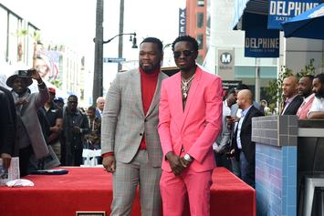 50 Cent & Michael Blackson Laugh At Floyd Mayweather's Superbowl Outfit