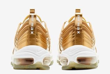 """Nike Air Max 97 Releasing In Regal """"Gold Medal"""" Colorway For Olympic Games"""