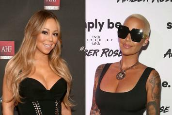 """Amber Rose Jokes About Being A """"Hoe"""" While Posing With Mariah Carey"""