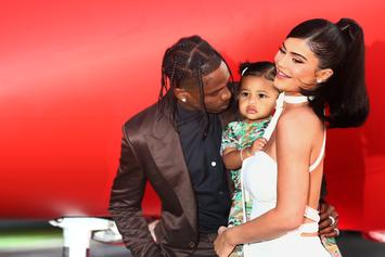 Travis Scott & Kylie Jenner's Daughter Stormi Crashes Her Dad's IG Live