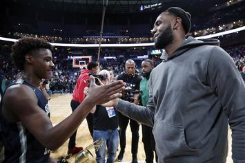 LeBron James Crashes Bronny's Stream And Surprises Twitch Streamer