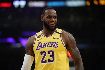 LeBron James Honors Kobe Bryant With Special Finger Band