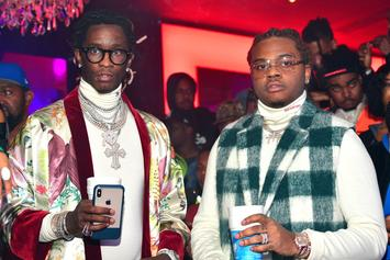 Gunna Gives Young Thug $100K & A Cupcake For His Birthday: Watch