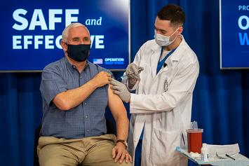 Mike Pence Receives Pfizer's COVID-19 Vaccine Live During Televised Event