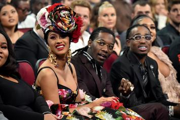 Cardi B, Offset, Meek Mill, & Lil Baby Get Together At Super Bowl Game
