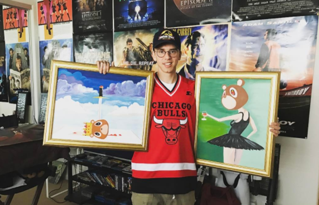 Logic holding up two paintings