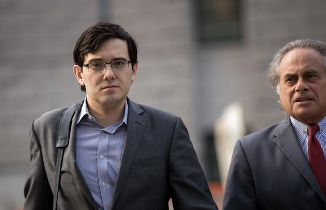 Martin Shkreli attends court in his securities fraud case