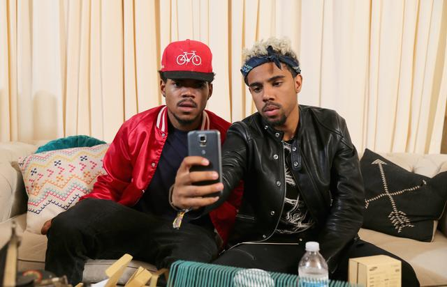 Chance the Rapper and Vic Mensa at Lollapalooza