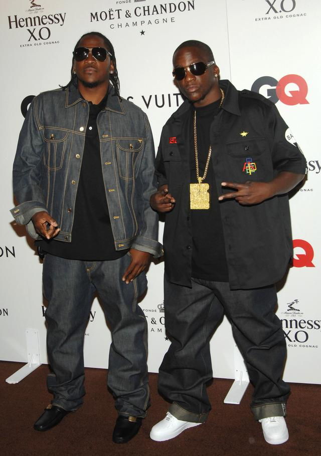 Clipse at Kanye West's birthday celebration in 2007
