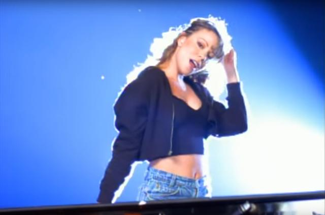 "Mariah Carey in ""Fantasy"" remix music video"