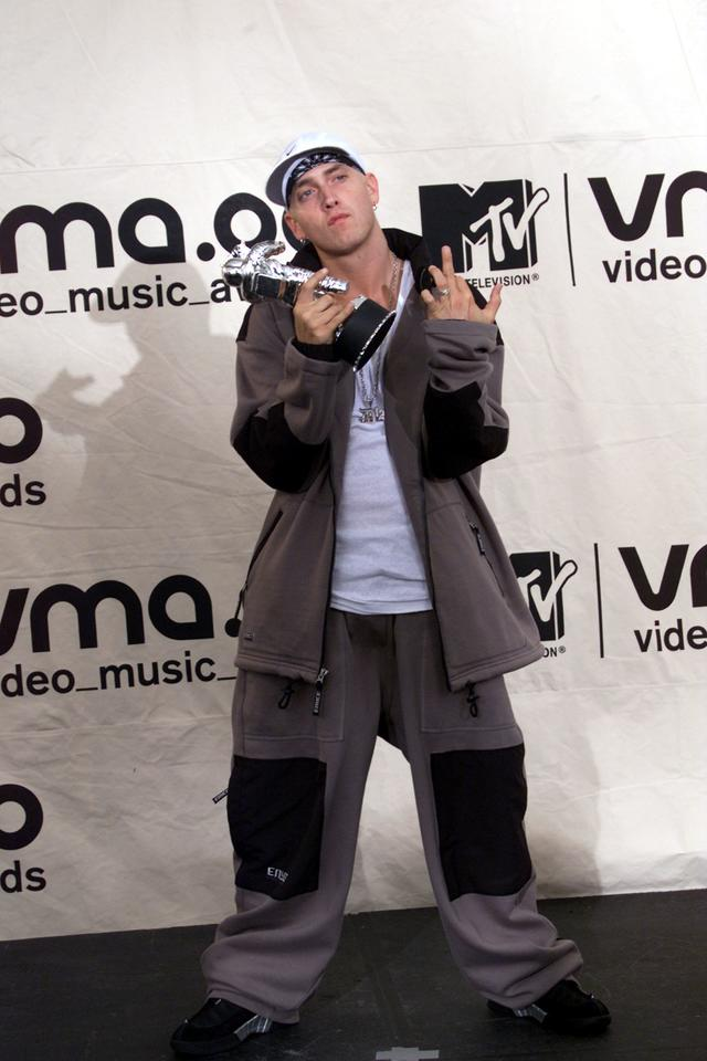 Eminem wins the MTV award for Best Male Video September 7, 2000