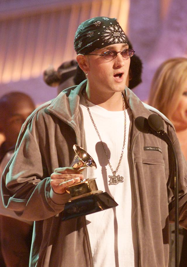 Eminem at the 43rd annual Grammys