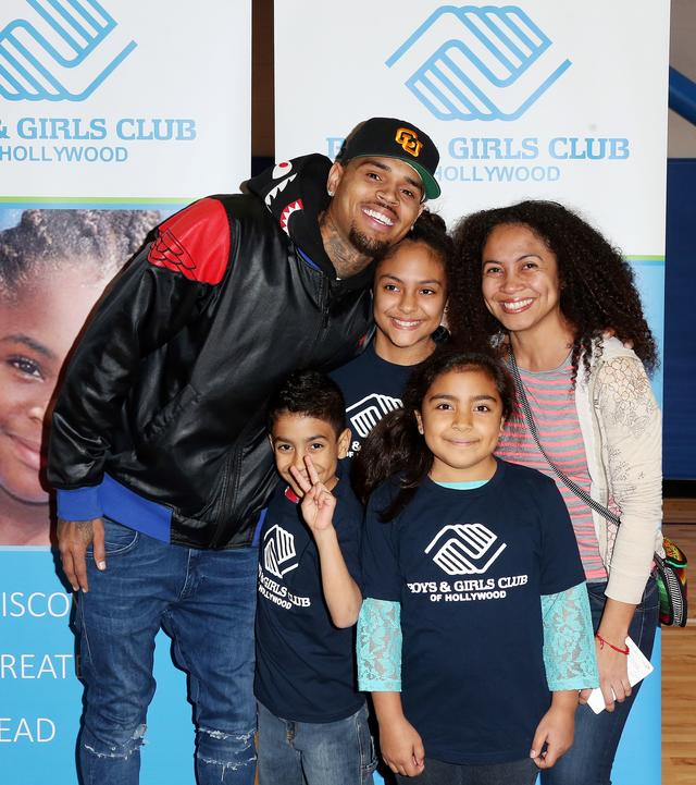 Chris Brown Surprises the Boys + Girls Club With Holiday Gifts