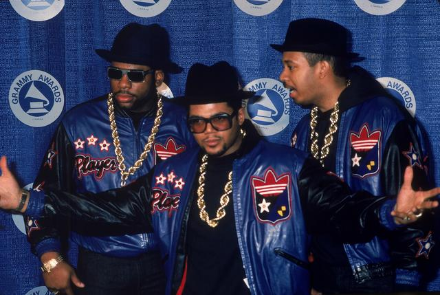 Run DMC at The Grammys in the 1980s