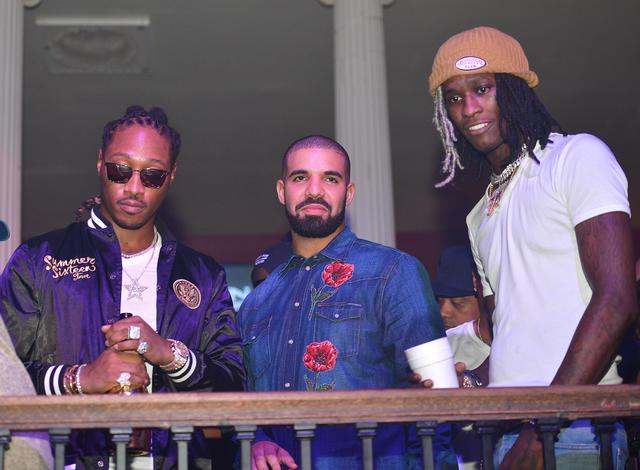 Young Thug, Drake and Future at Summer Sixteen afterparty