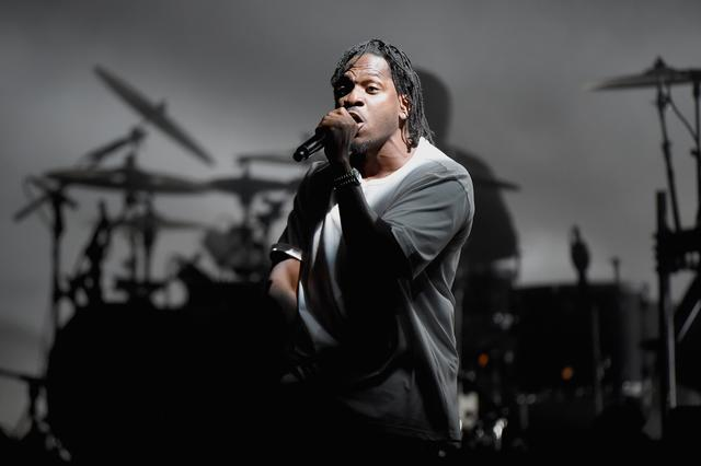 Pusha T performing at the meadows music and arts festival