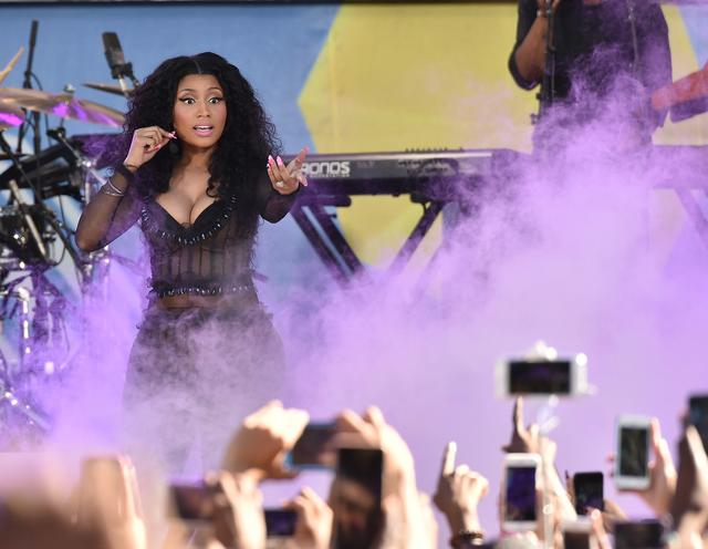 Nicki Minaj performing on ABC Goodmorning America
