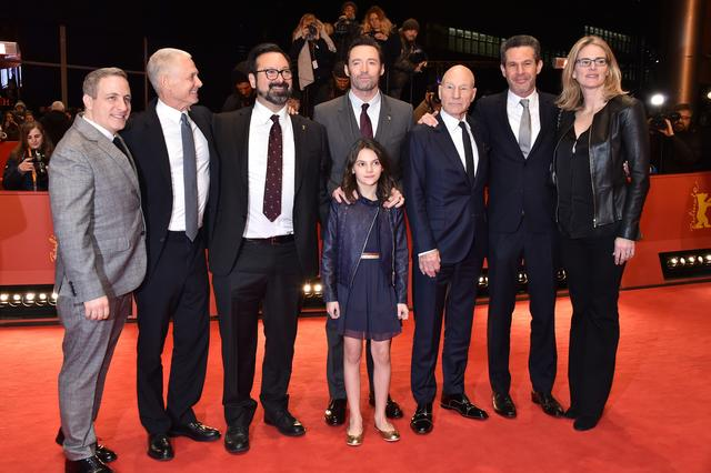The cast of Logan at the movie premiere