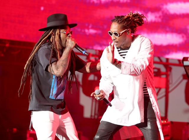 Future and Ty Dolla Sign performing together at Coachella