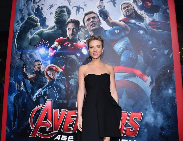 Scarlett Johansson at The Avengers movie premiere