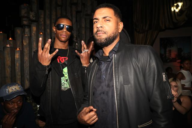 Kevin Webb and A Boogie Wit Da Hoodie at an album release party