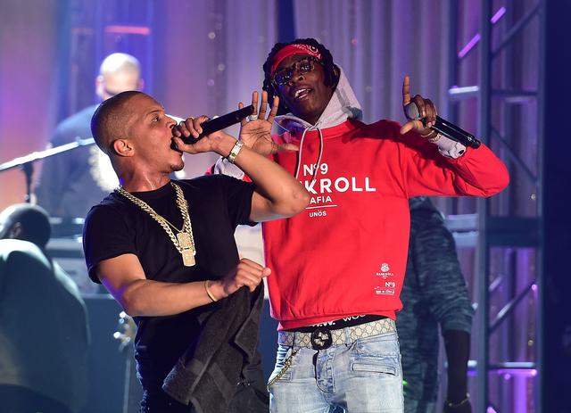 T.I. and Young Thug on stage together