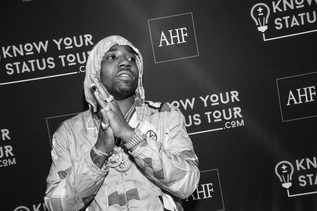 YFN Lucci black and white pic