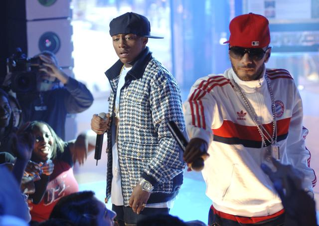 Swizz Beatz and Cassidy at MTV's TRL
