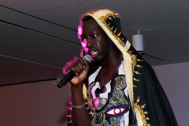 Le1f performing in BK