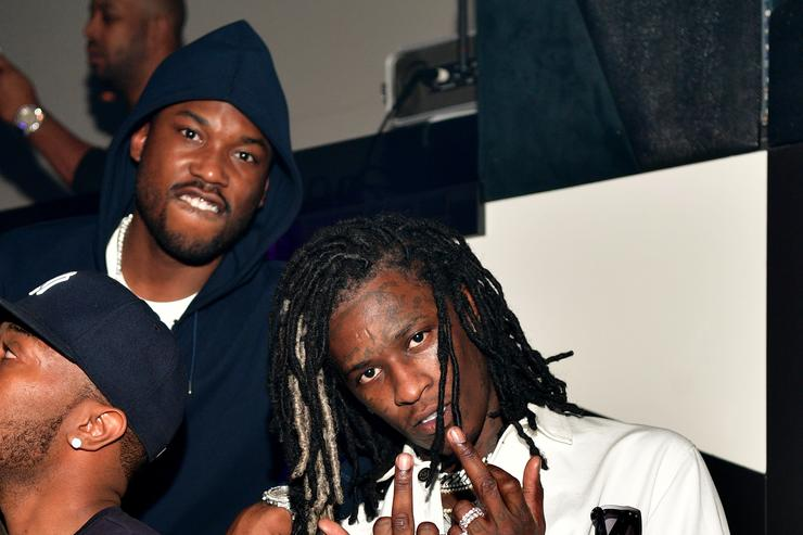 """Young Thug & Meek Mill at Gucci Mane's """"Woptober"""" album release"""